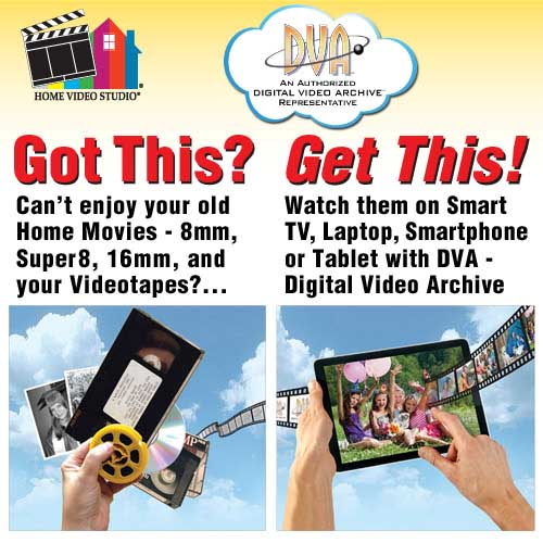 Watch and enjoy your old home movies on your laptop, tv or mobile device